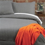 Deluxe Organic Charcoal Flannel Bedding
