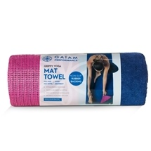 Gaiam Performance Grippy Yoga Mat Towel