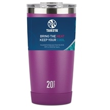 Takeya Actives Insulated Steel Tumbler Violet 590ml