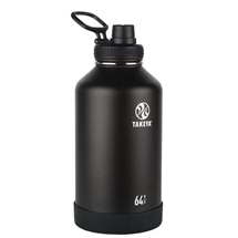 Takeya Active Insulated Steel Bottle Onyx 1900ml Spout Lid