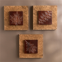 Carved Acacia Panels (Set of 3)