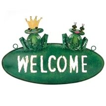 Pressed Metal Welcome Sign