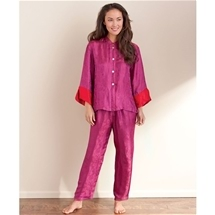 Mandarin Collar Silk Pajamas