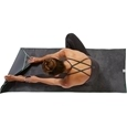 Gaiam Yoga Fitness Towel Grey Teal_27-72409_6