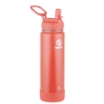 Takeya Actives Insulated Steel Bottle Coral 700ml Straw Lid_51227_0
