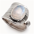 Zivah Textured Silver Adjustable Ring_G-MAR_1