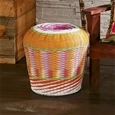 Multi Coloured Woven Stool_G-MWS_0