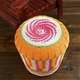 Multi Coloured Woven Stool_G-MWS_1