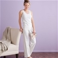 Organic Cotton Lace Trimmed Pant and Tan_G-OLT_3