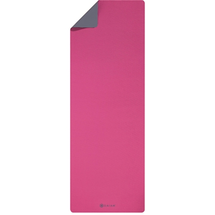 4.5mm PVC Yoga Mat Magenta/Grey