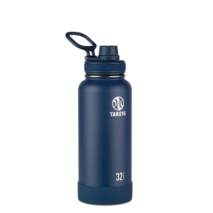 Takeya Actives Insulated Steel Bottle Midnight 950ml