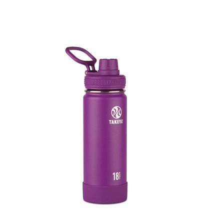 Takeya Actives Insulated Steel Bottle Violet 530ml